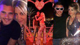 Wanda e Icardi, a pura fiesta en Ibiza