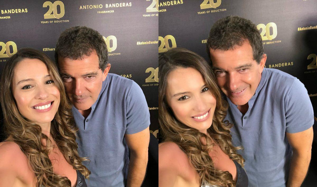 Pampita y Antonio Banderas a puro coqueteo en Marbella