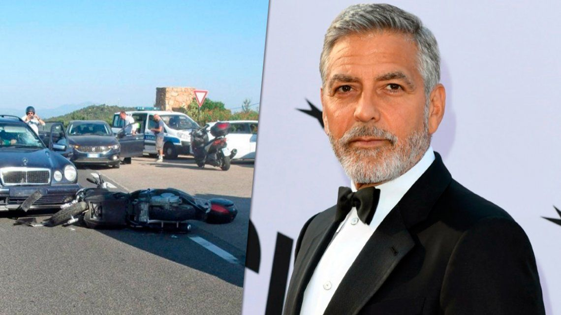 Clooney sufrió un accidente en Italia