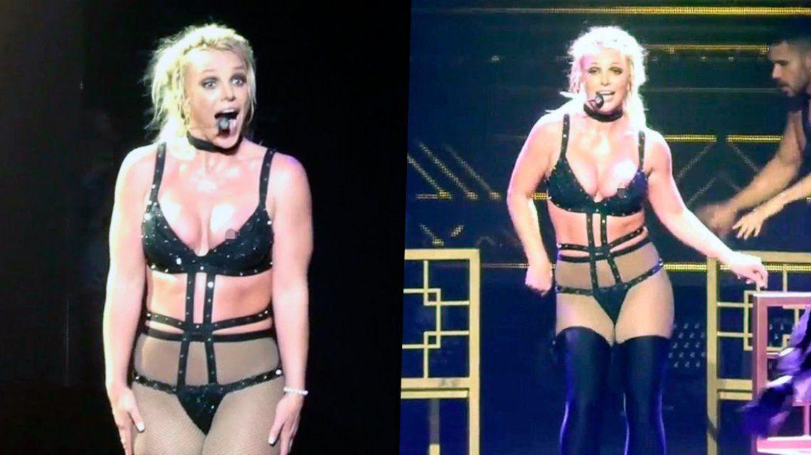 El descuido de Britney Spears: mostró de más en medio de una coreografía