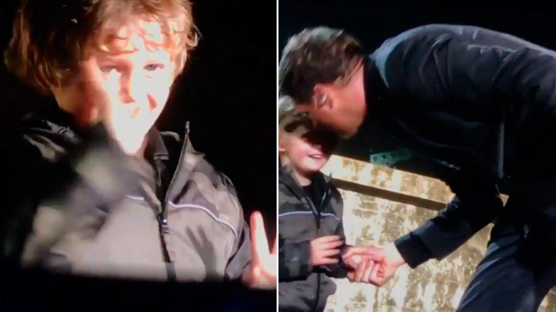 Noah Bublé subió al escenario junto a Michael