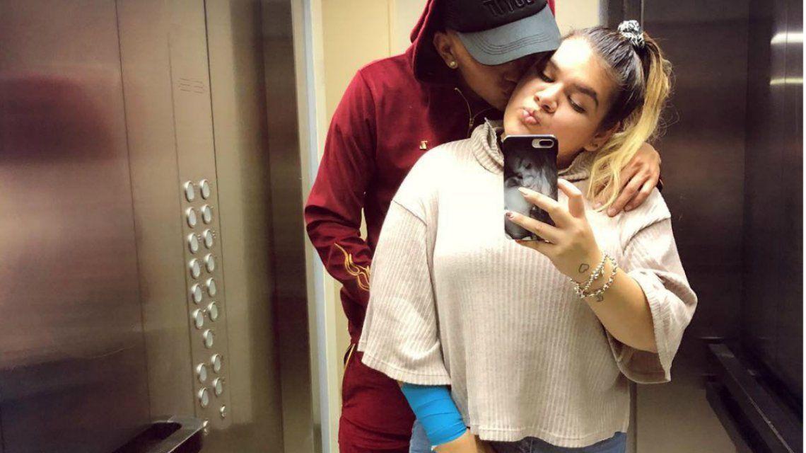 Ambrosioni subió una foto con More y un mensaje romántico para la joven