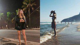 Jimena Barón, desnuda en Río de Janeiro