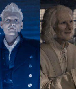 Un joven Dumpledore, Gellert Grindelwald y Nicolas Flamel