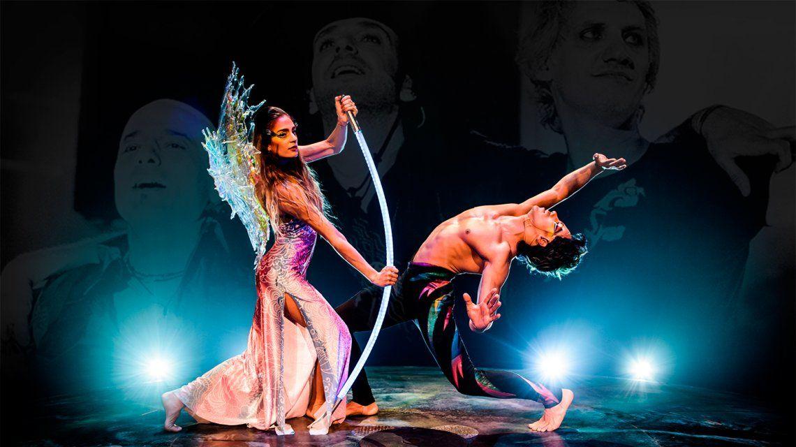 Florencia Aracama y Nicolás Busso brillan en el Cirque du Soleil