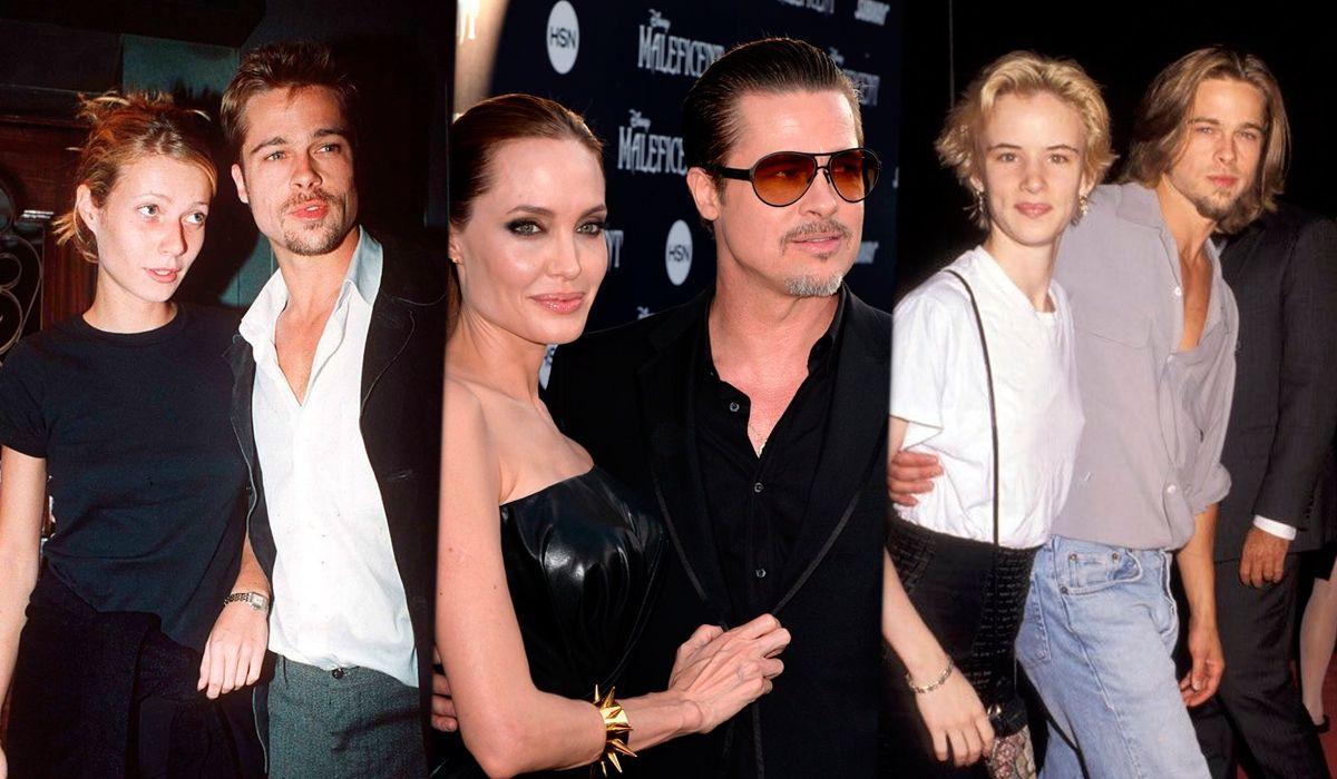 Brad Pitt y sus looks según sus novias