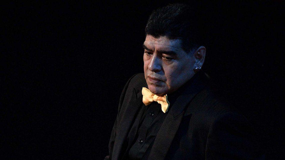 Diego Maradona celebró el arranque de su nueva serie