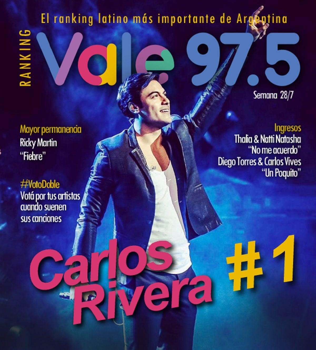 Carlos Rivera volvió a lo más alto del Ranking Vale