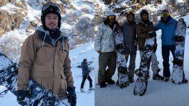 Pico Mónaco y sus amigos en la nieve