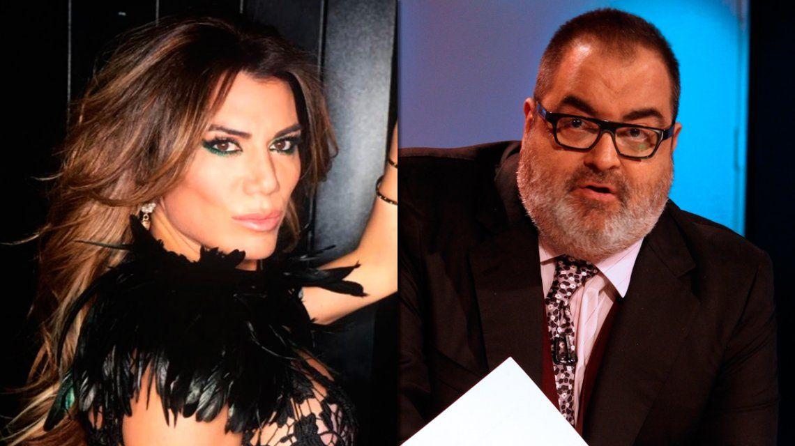 Florencia de la V envió un escrito al INADI contra Jorge Lanata