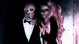 Rick Genest y Lady Gaga en Born this way