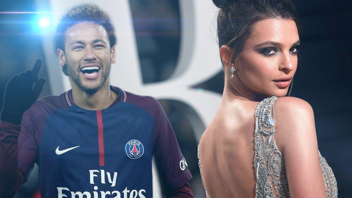 La dupla menos pensada: las fotos de Neymar y Emily Ratajkowski juntos
