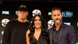Wisin, Lali y Diego Torres en la presentación oficial de Talento Fox. Foto: Yamila Ruski