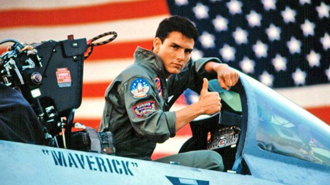 Tom Cruise como Maverick en Top Gun