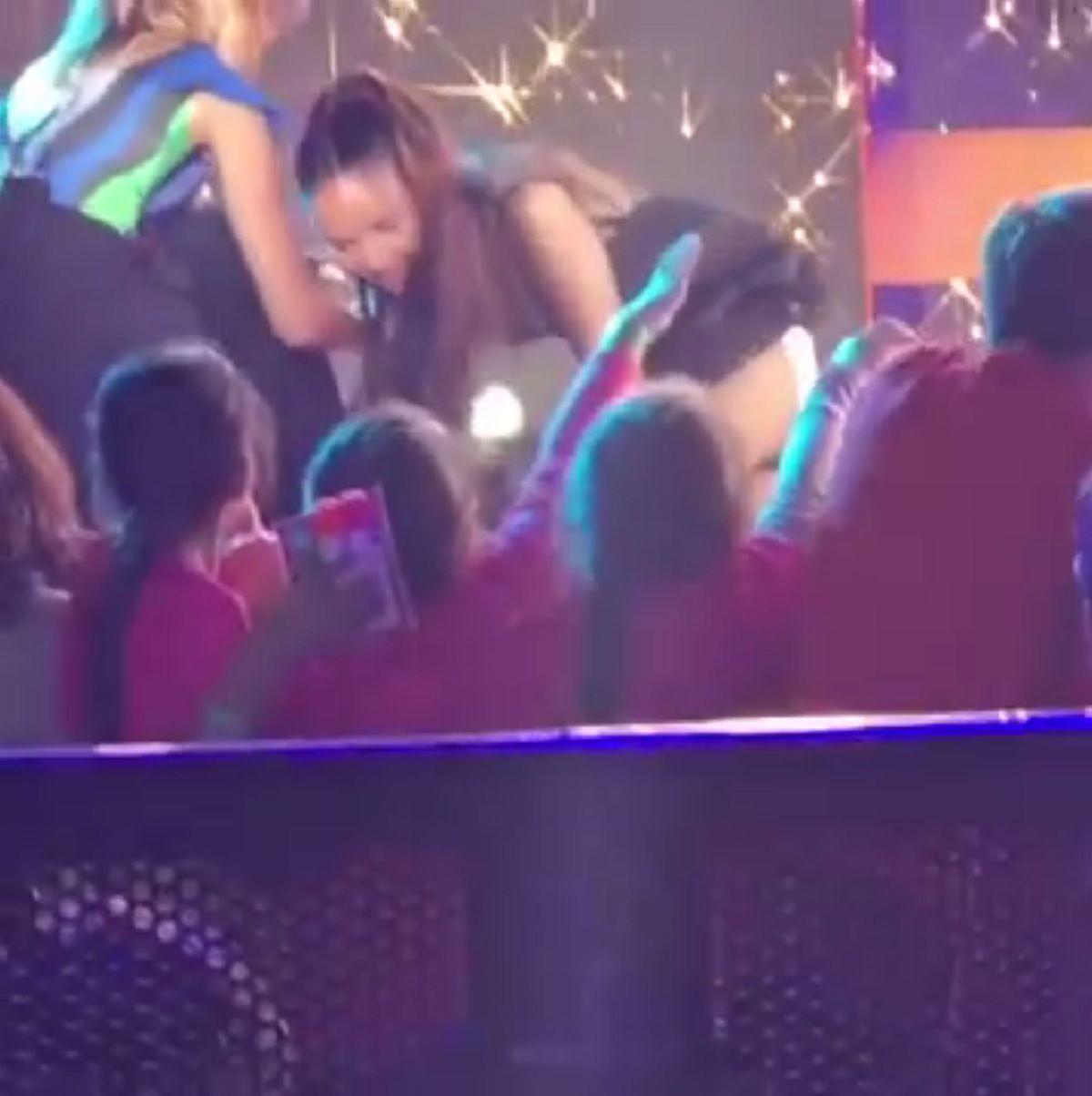 La caída de Natalia Oreiro en los Kids Choice Awards