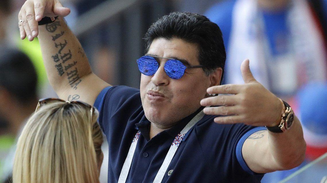 El exabrupto de Diego Maradona con un periodista: La con... de tu madre