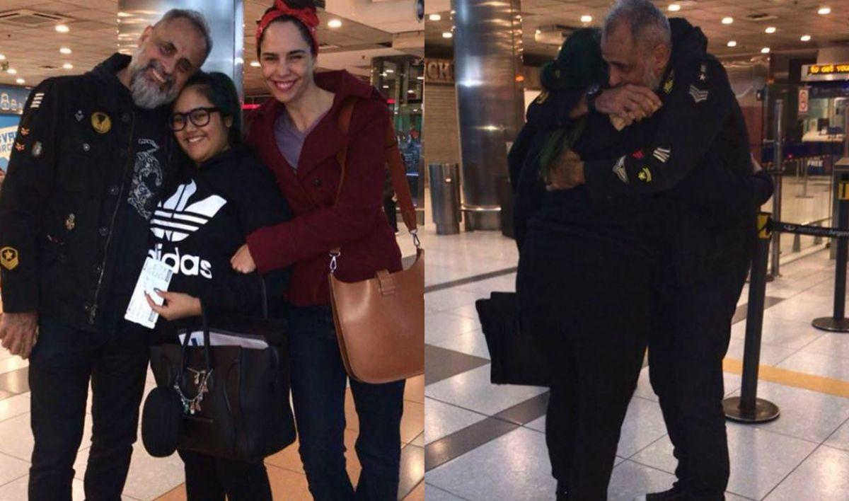 Jorge Rial y Romina Pereiro fueron a despedir a Rocío