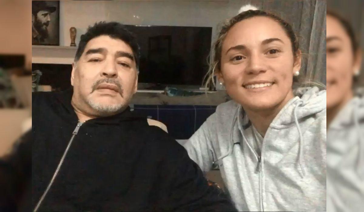 Maradona y Oliva desde la intimidad de su casa