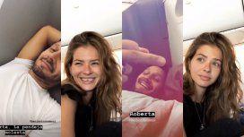 La China y Vicuña, divertidos en el avión
