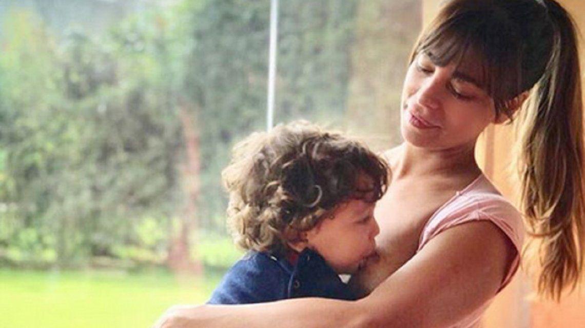 Ximena Capristo dejó de amamantar a su hijo Félix.