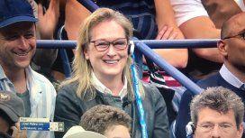Meryl Streep, un show aparte en el US Open: su reacción al ver un gran punto de Del Potro