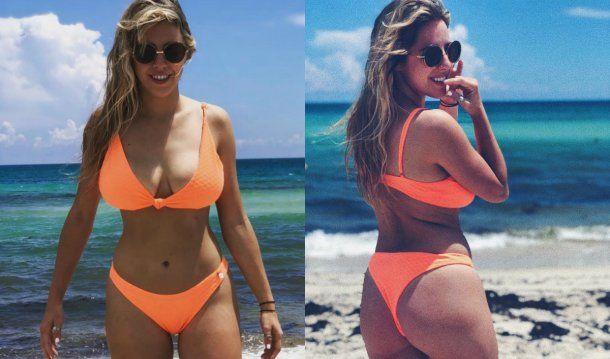 Nati Jota posó en las playas de Miami<br>