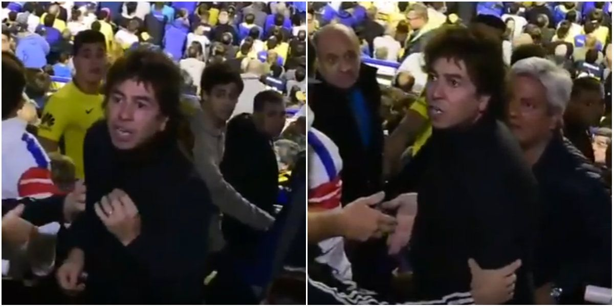 Gonzalito discutió con hinchas de Boca