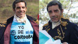 Fabián Mazzei interpretó a Manuel Belgrano