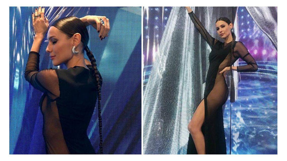 El sensual vestido de Pampita en el Bailando.
