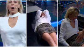 Denise se cayó en Los especialistas del show.