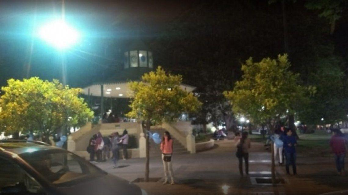 El fallido escrache a Lali en Salta (gentileza Sector VIP)