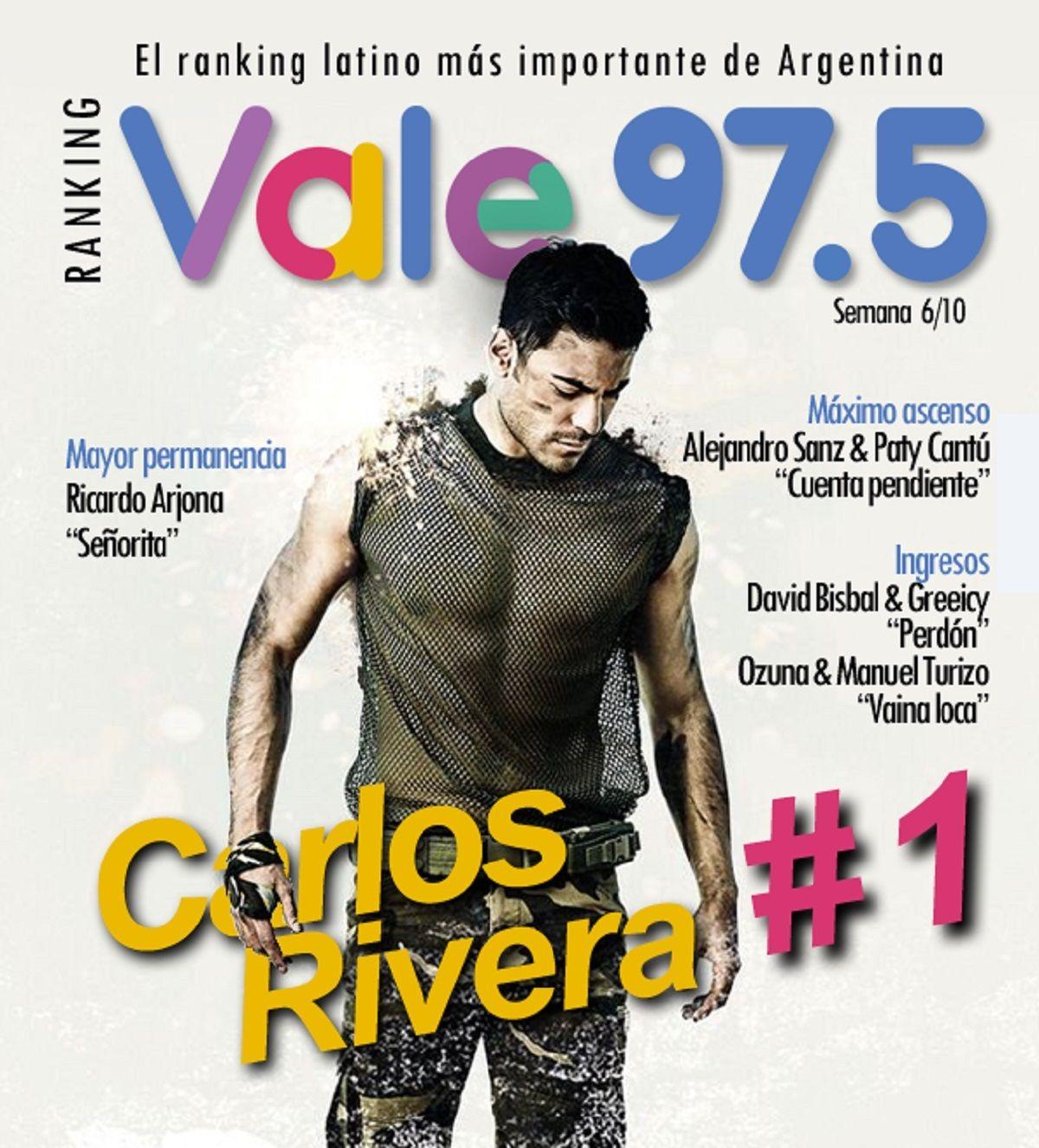 Carlos Rivera llegó a la cima del Ranking Vale