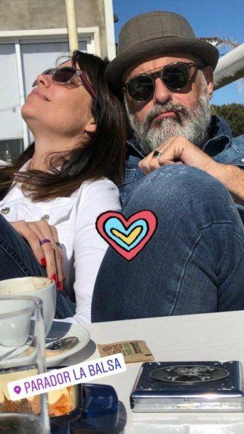Jorge Rial, enamorado de Romina Pereiro. <br>