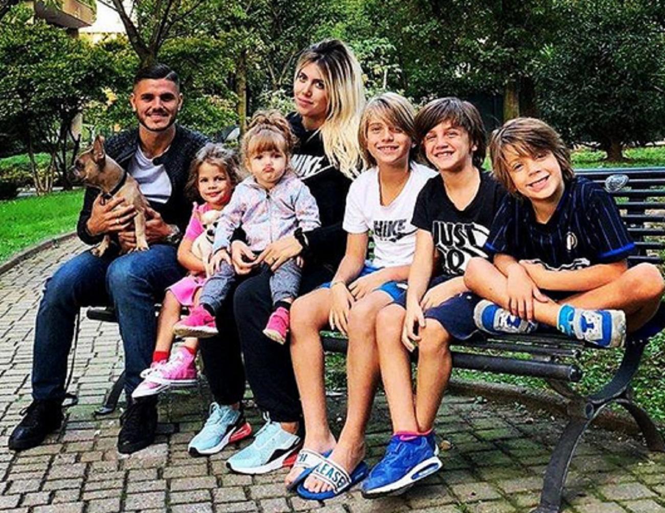 Toda la familia de Wanda e Icardi