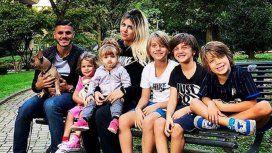 Toda la familia de Wanda e Icardi, junta.