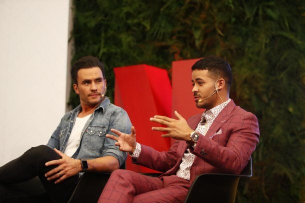 <p>Juan Pablo Raba (Distrito Salvaje) y Christian Navarro (13 reasons why)</p>
