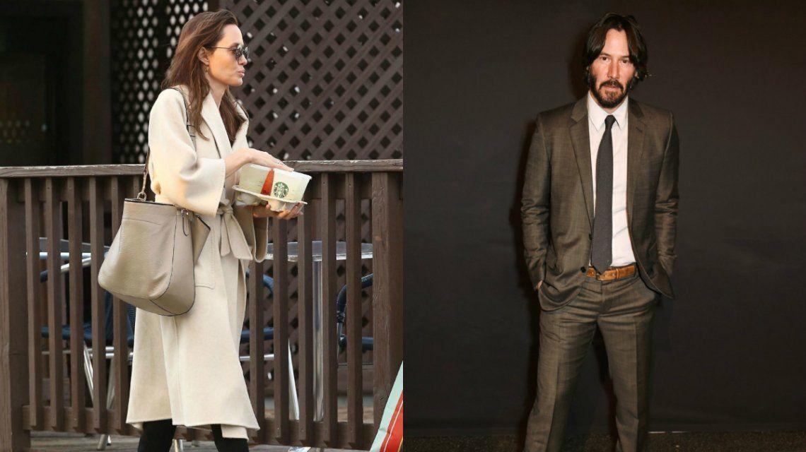 Brad Pitt ya fue: Angelina Jolie estaría saliendo con Keanu Reeves