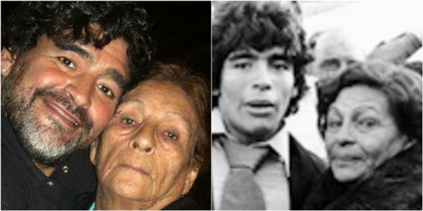 Diego Maradona y un mensaje especial a Doña Tota. <br>