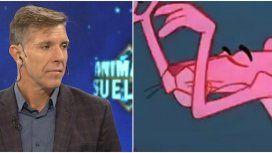 Alejandro Fantino canta el tema de la Pantera rosa