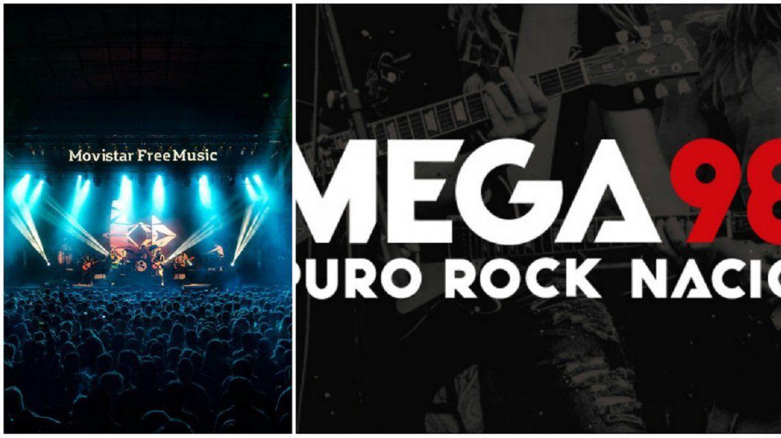 Mega 98.3 transmitirá el Movistar fri music 2018.