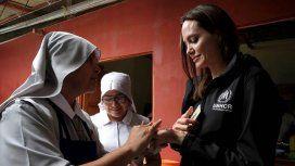Angelina Jolie, enviada de Acnur a Perú.