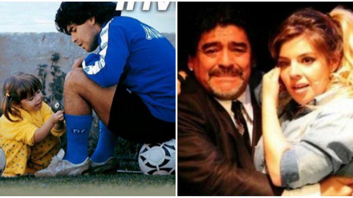 Dalma saludó a Diego por su cumpleaños.