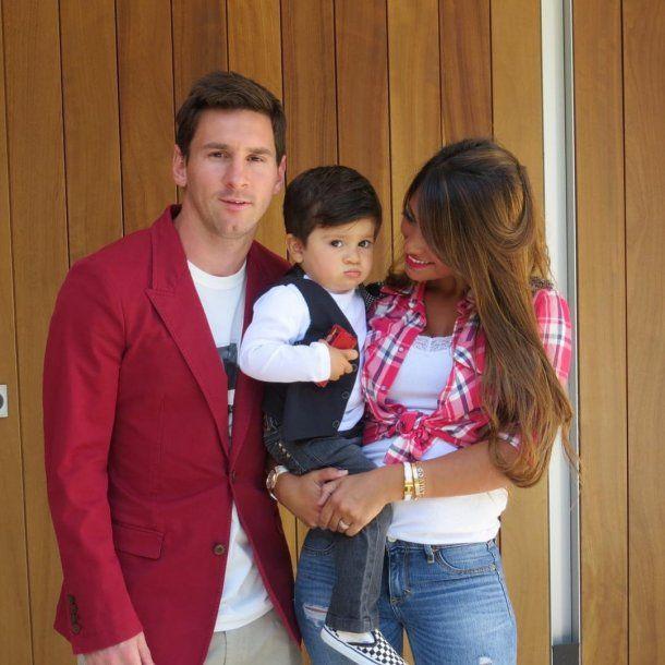 Antonela Roccuzzo develó el misterio de la remera de Mateo Messi