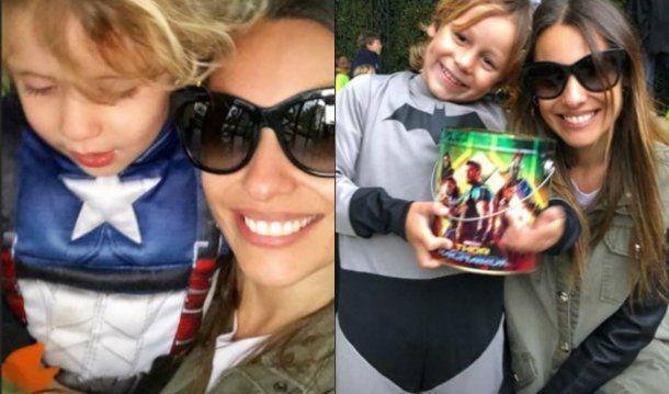 Pampita y sus hijos por Halloween<br>