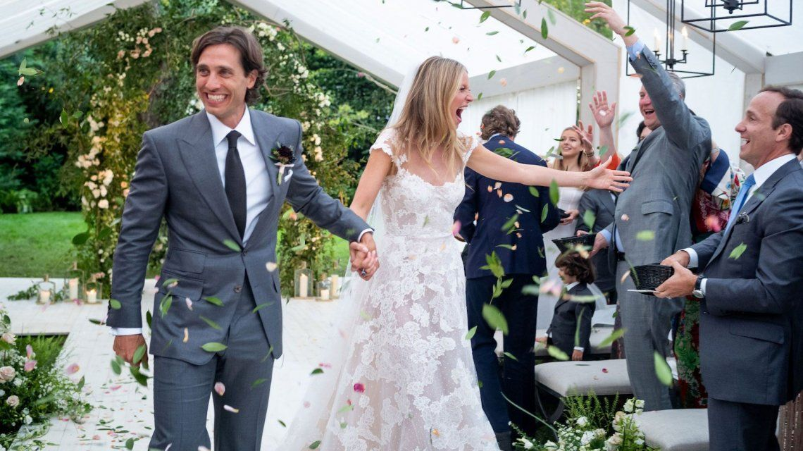 Las fotos del casamiento secreto de Gwyneth Paltrow con Brad Falchuk