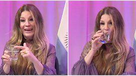 Insólito: Gisela Barreto dio una charla sobre sexo usando un vaso con agua como ejemplo