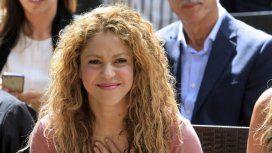 Shakira fue a ver a sus hijos durante el entrenamiento con el Barcelona.