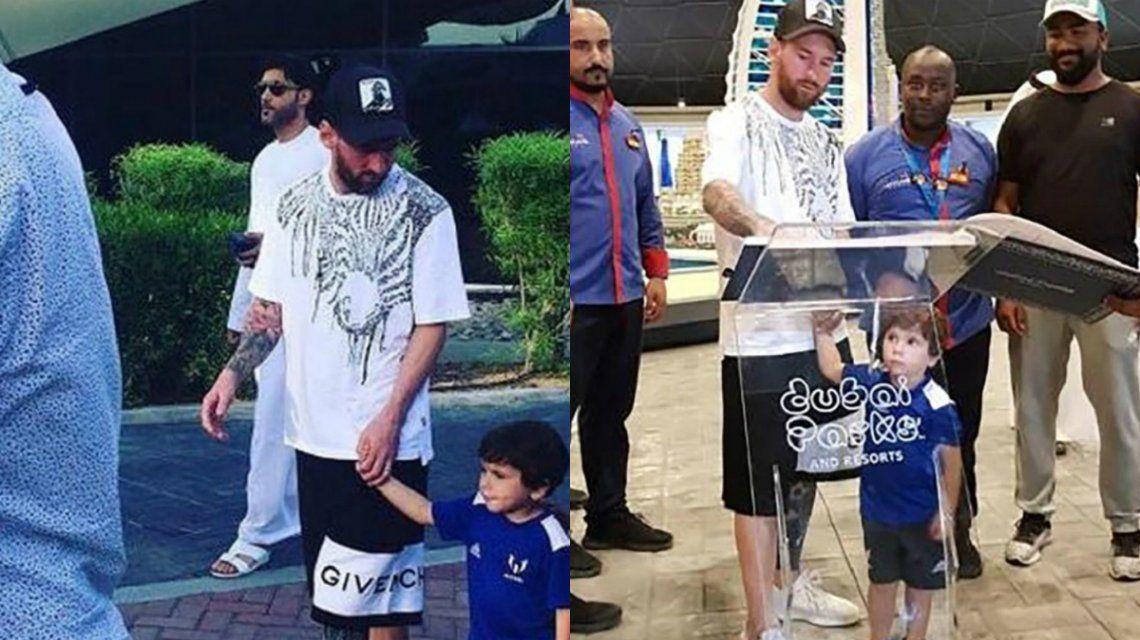 Lionel Messi, de vacaciones con la familia en Dubai