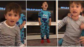 Los hijos de Messi, bailando.