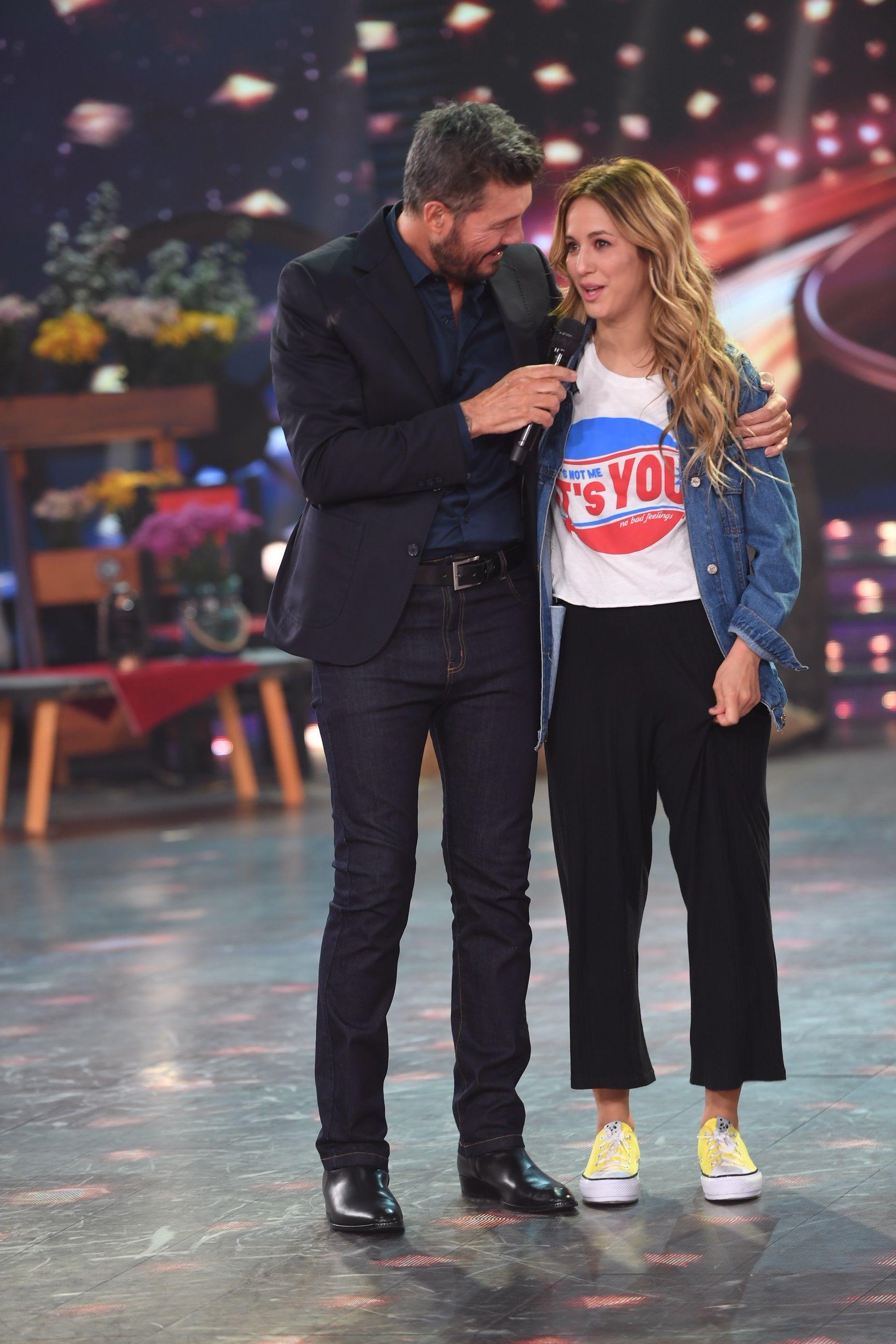Marcelo Tinelli con Flor Vigna